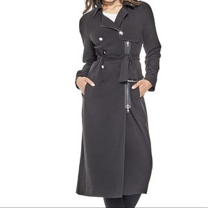 NEW Guess Matilda Black Trench Coat - size small